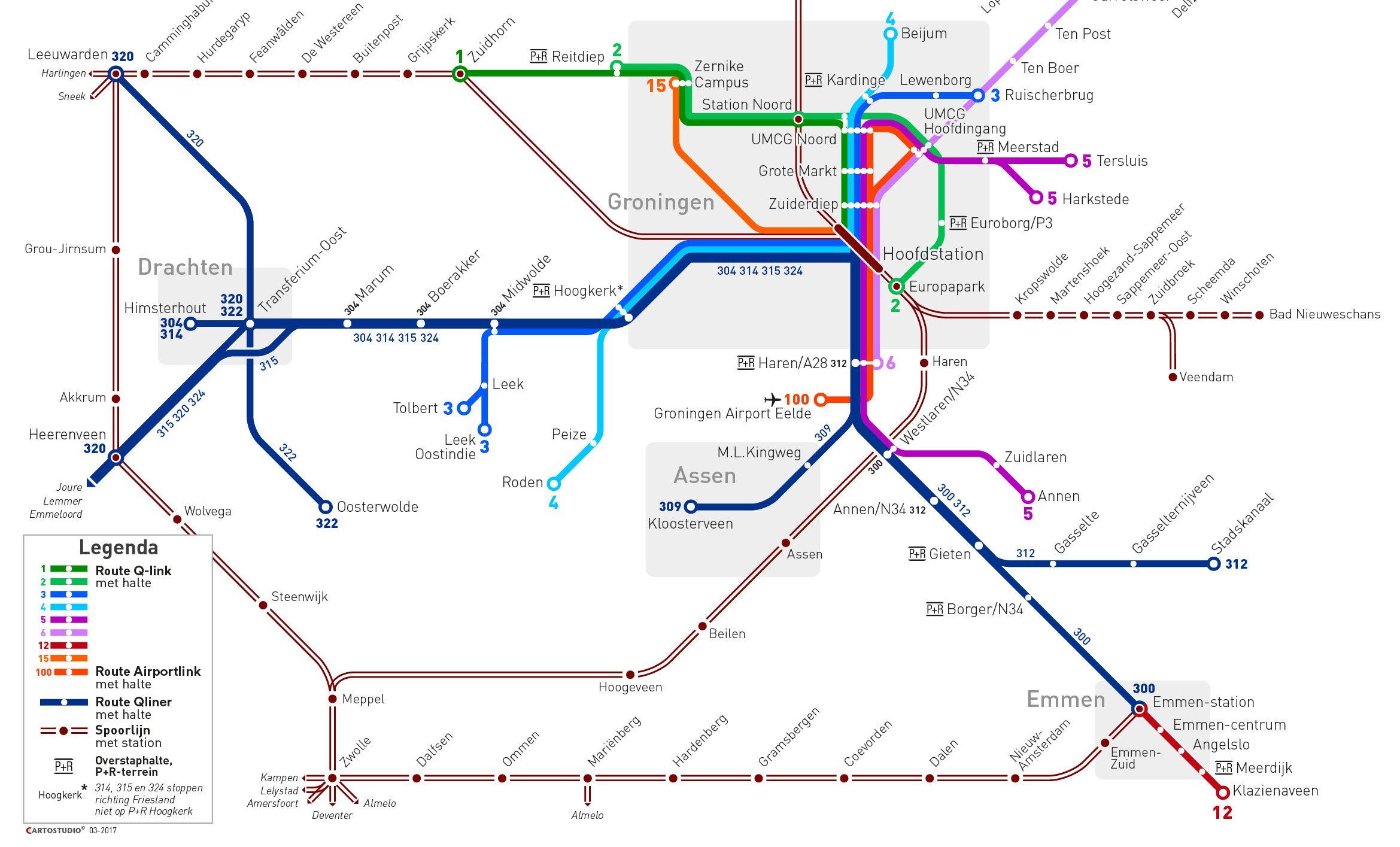 Het Openbaar Vervoer Verbetert Provincie Groningen