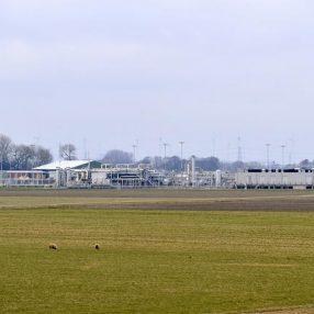 Foto van de NAM-locatie bij Bierum